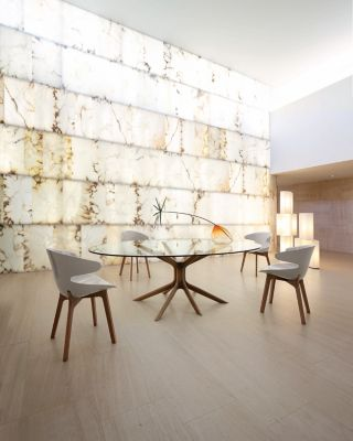 TABLE DE REPAS MANGROVE  Roche Bobois -> Table Salon Verre Roche Bobois