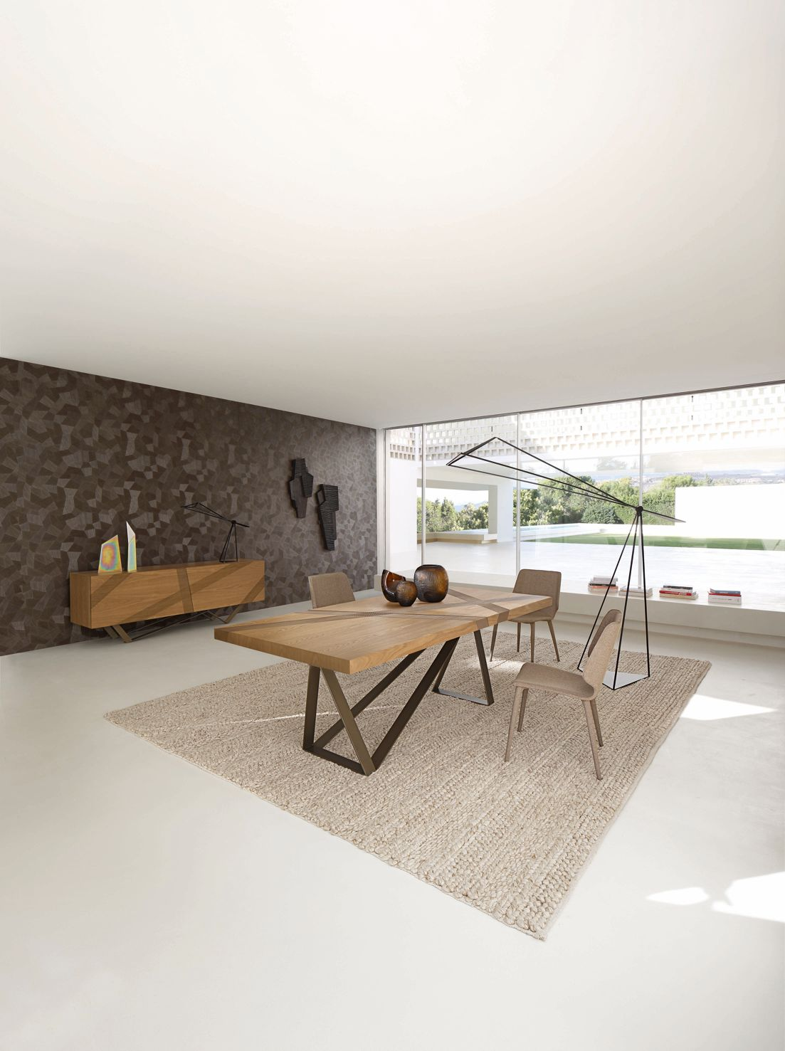 trace lampe de table roche bobois. Black Bedroom Furniture Sets. Home Design Ideas