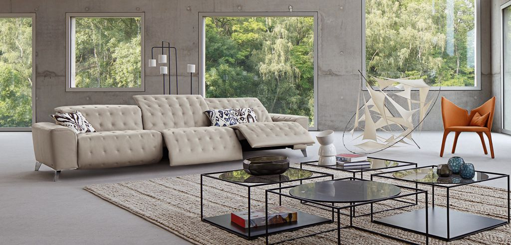 roche bobois leather sofa. Black Bedroom Furniture Sets. Home Design Ideas
