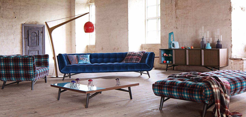 Profile large 4 seat sofa nouveaux classiques collection roche bobois - Collection roche bobois ...