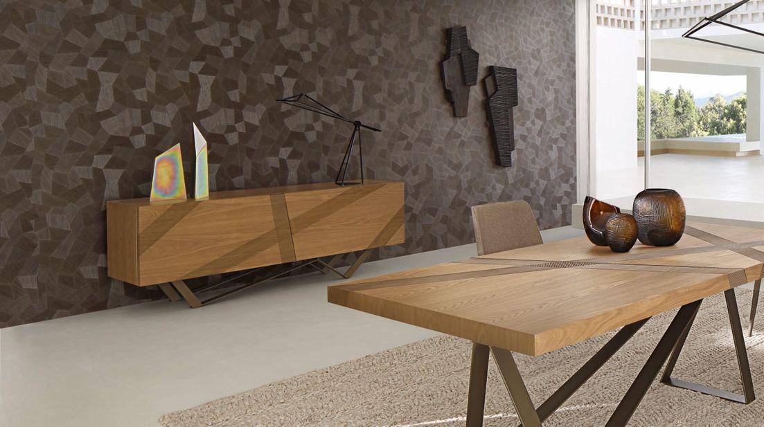 Table de repas track roche bobois for Table de salle a manger roche bobois