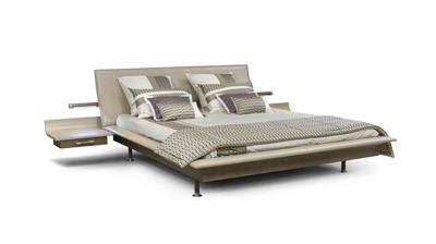 Leather sofa bed - Vanity Bed With Nightstands Roche Bobois