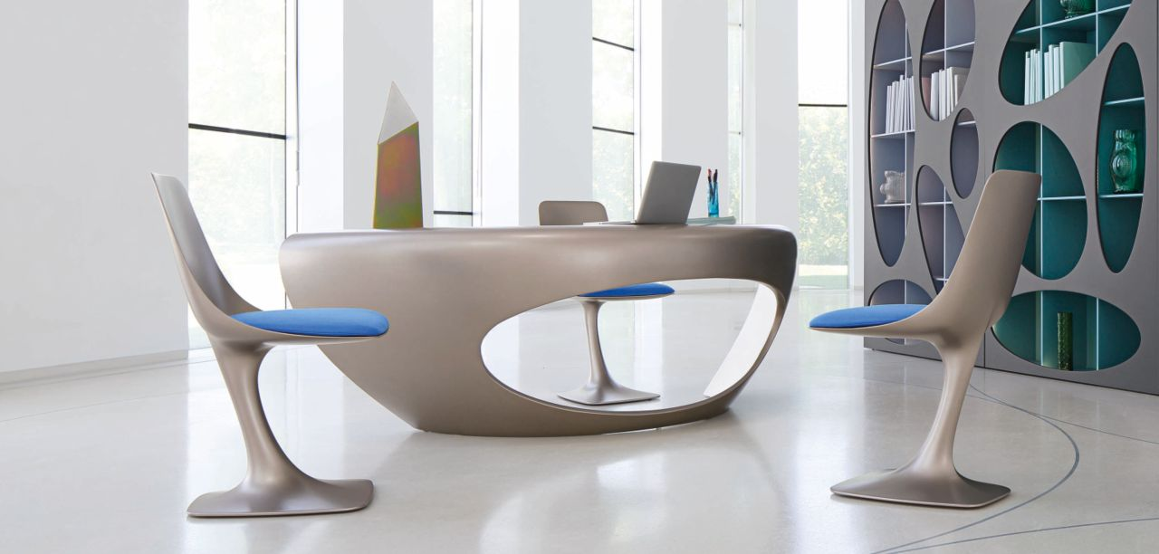 Schreibtisch morphos roche bobois for Meuble bureau roche bobois