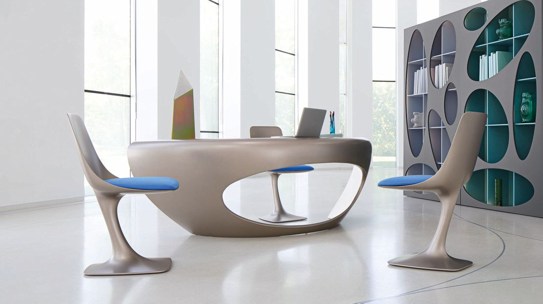 Arum chair roche bobois for Meuble bureau roche bobois