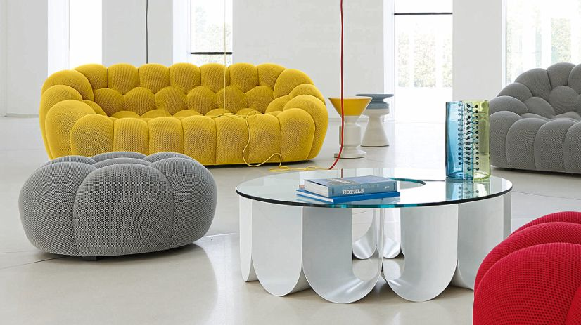 Bubble grand canap 3 places roche bobois for Petit canape arrondi