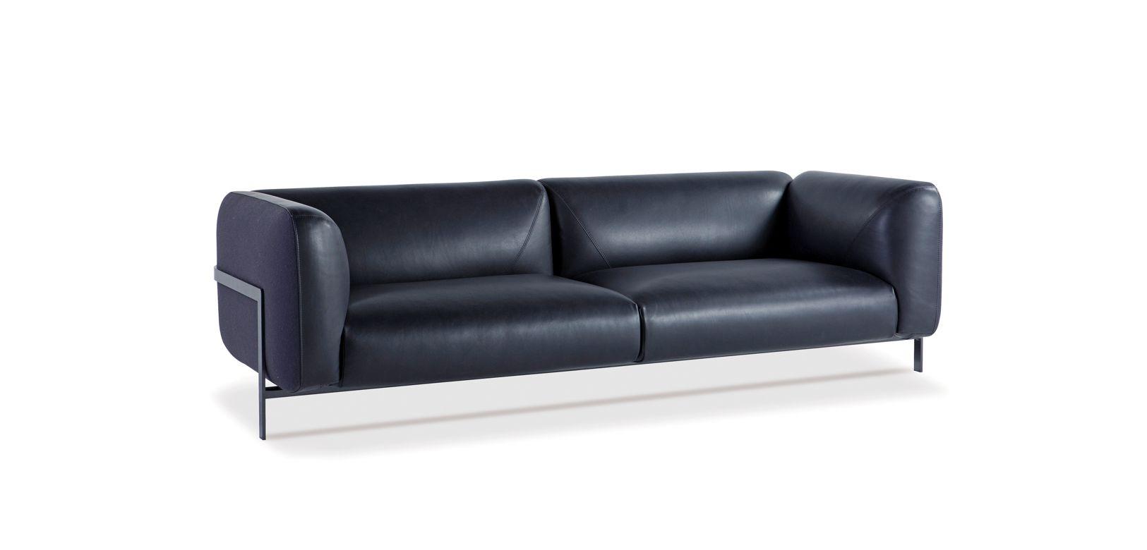 gro es 3 sitzer sofa lobby roche bobois. Black Bedroom Furniture Sets. Home Design Ideas
