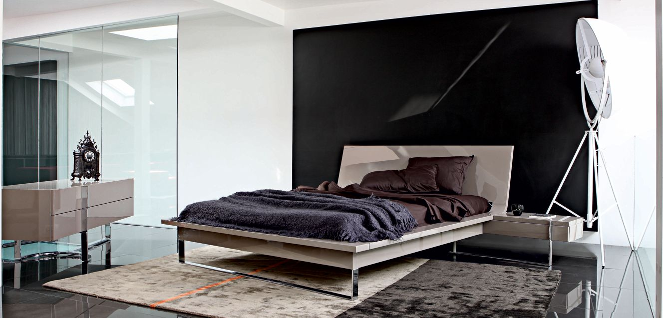 diapason bed with nightstands roche bobois. Black Bedroom Furniture Sets. Home Design Ideas