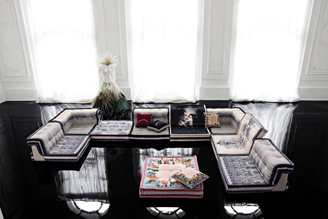 Mah jong composition missoni home roche bobois for Canape mah jong occasion