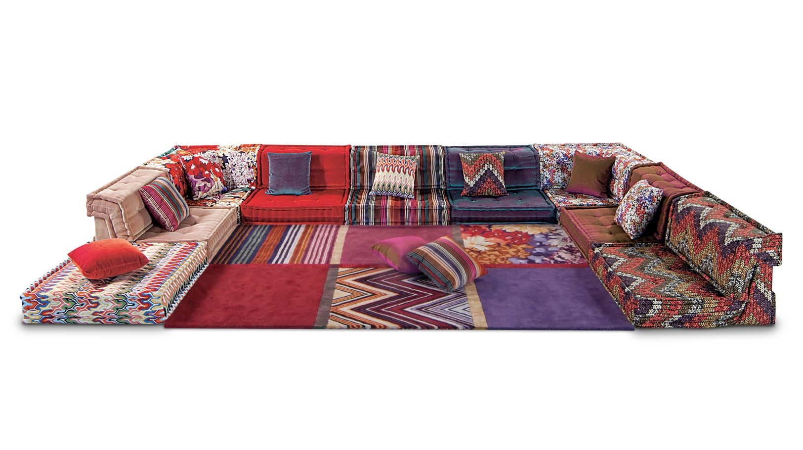 mah jong composition missoni home  roche bobois -
