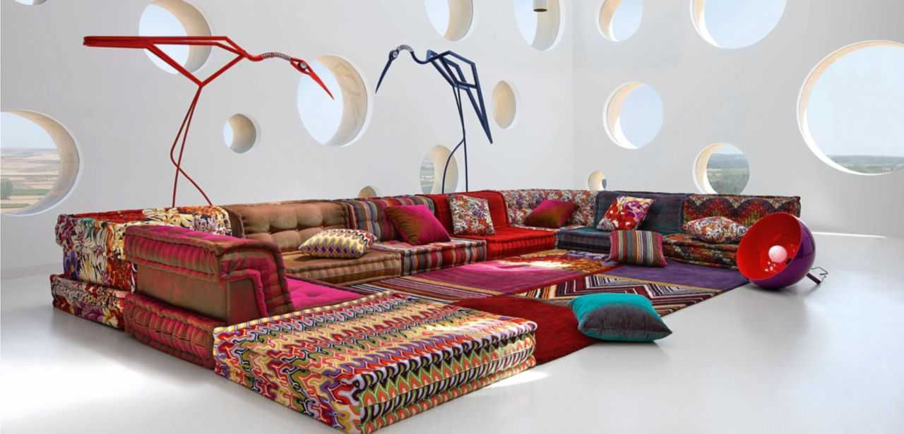 Mah jong composition missoni home roche bobois for Canape roche et bobois