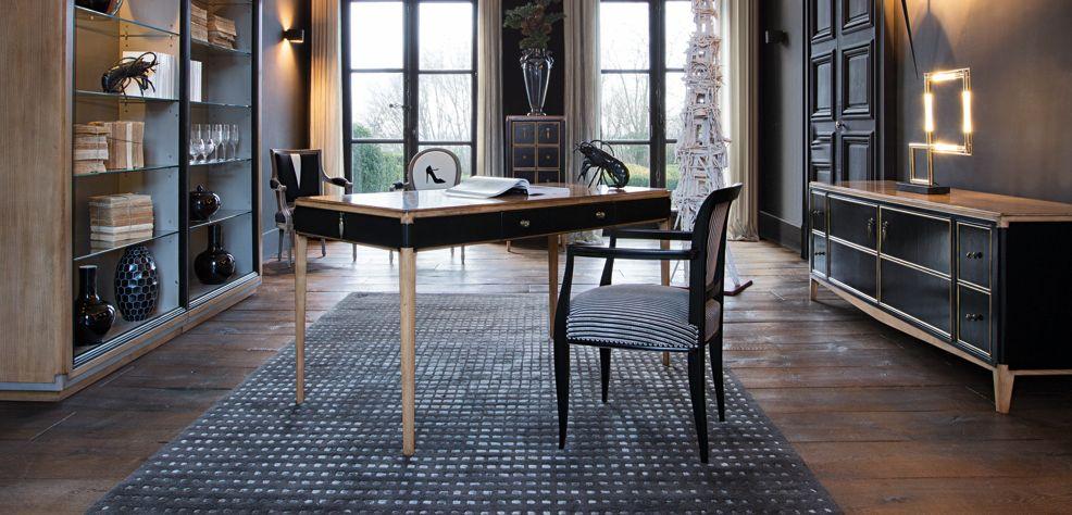 bureau claridge collection nouveaux classiques roche bobois. Black Bedroom Furniture Sets. Home Design Ideas