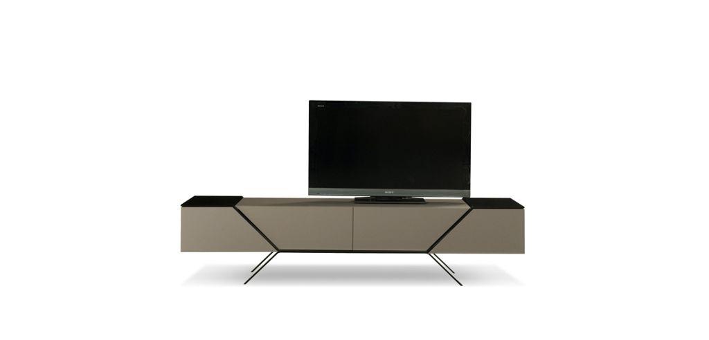 meuble tv chicane - roche bobois - Meuble Tele Design Roche Bobois