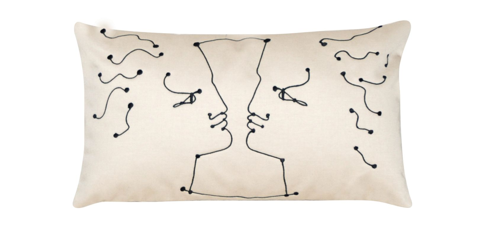 face a face jean cocteau cuscino roche bobois. Black Bedroom Furniture Sets. Home Design Ideas