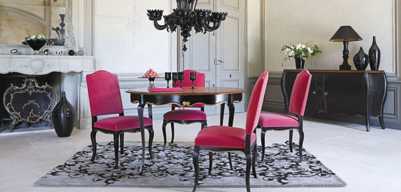 volubilis table ronde collection nouveaux classiques roche bobois. Black Bedroom Furniture Sets. Home Design Ideas