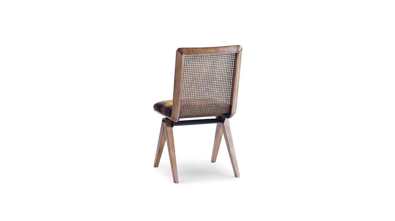 Sedia schienale in paglia di vienna armand collezione for Sedia design paglia di vienna