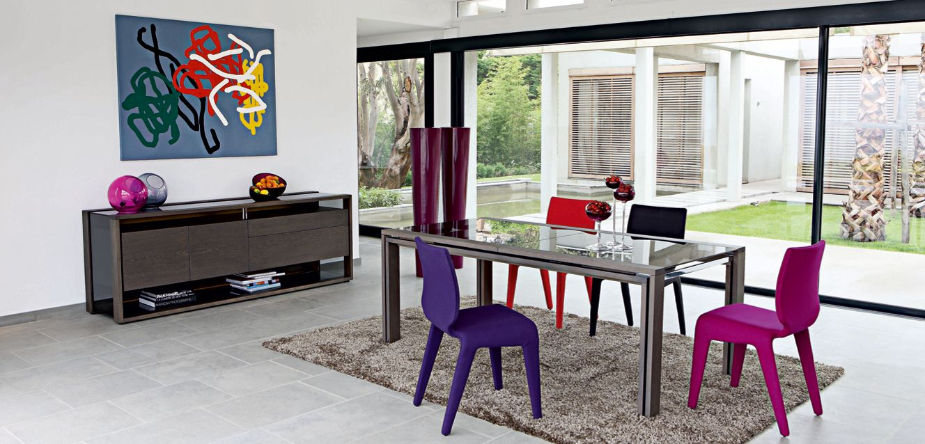 Glassbox dining table roche bobois - Prix table roche bobois ...