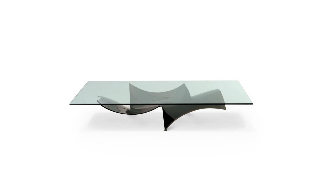 Table basse voiles roche bobois - Table de salon en verre roche bobois ...