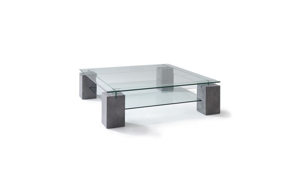 Ténéré Cocktail Table Concrete Patina Roche Bobois