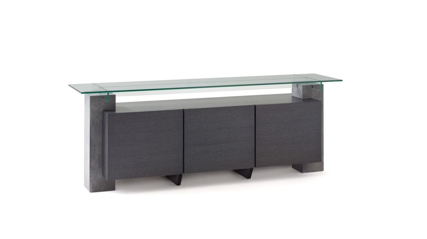 t n r sideboard concrete patina roche bobois. Black Bedroom Furniture Sets. Home Design Ideas