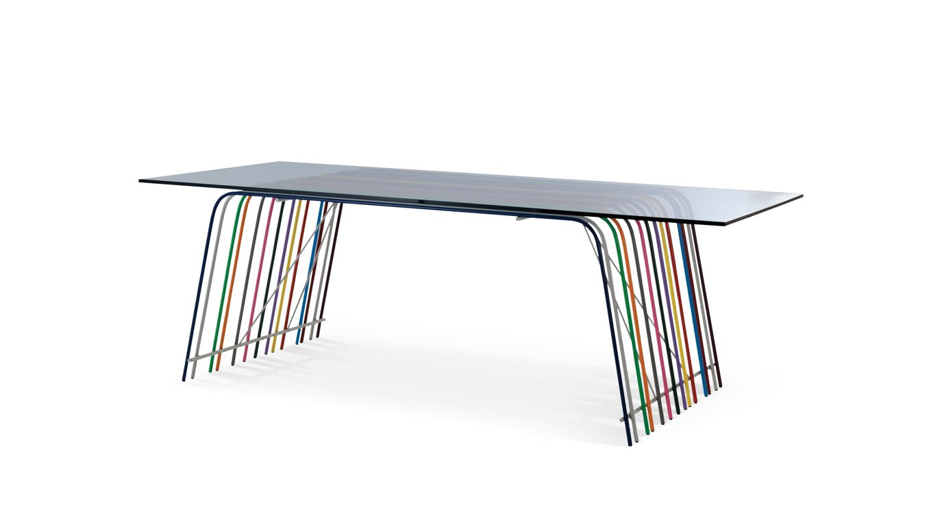 Ferre dining table roche bobois for Table extensible roche bobois