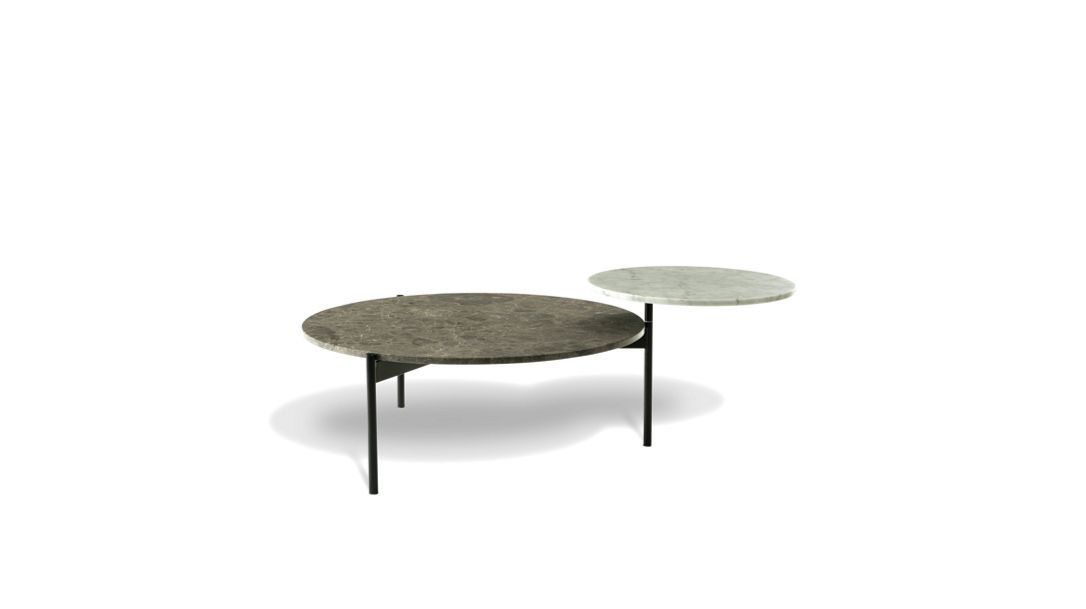 Table Basse Ronde Marbre Marinacee Excentric Roche Bobois