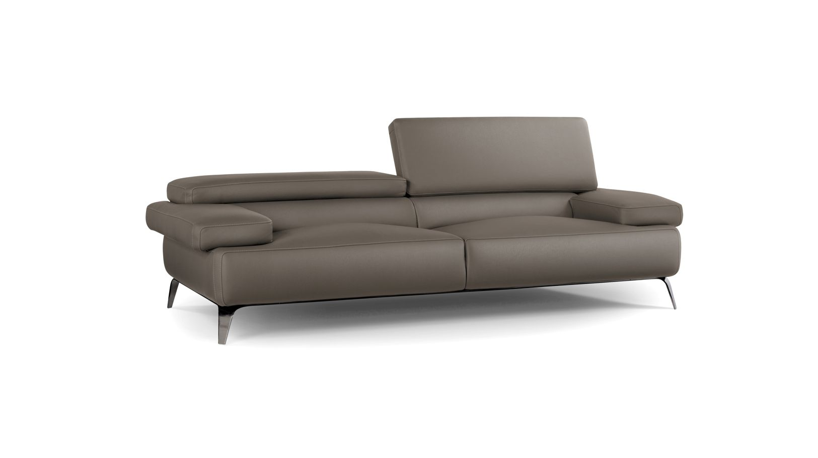 Grand canap 3 places graphite roche bobois - Canape cuir roche bobois 3 places ...