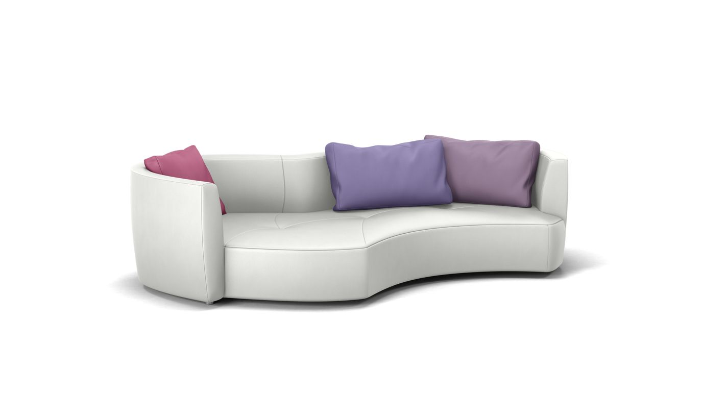 Tangram round sofa edge on right roche bobois - Canape rond roche bobois ...