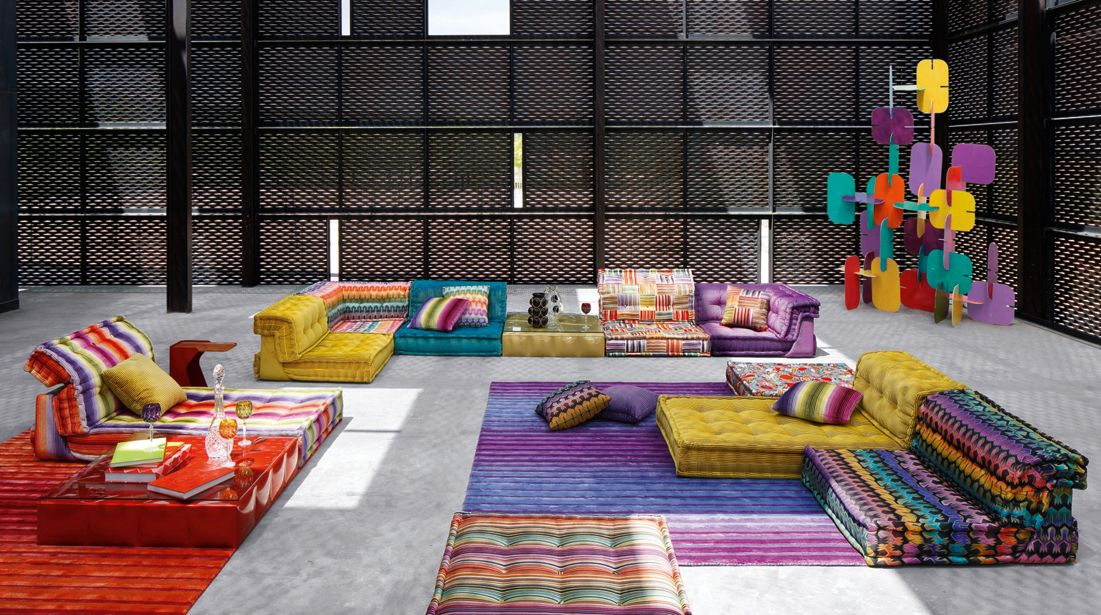 Mah jong composition missoni home roche bobois - Catalogue la roche bobois ...