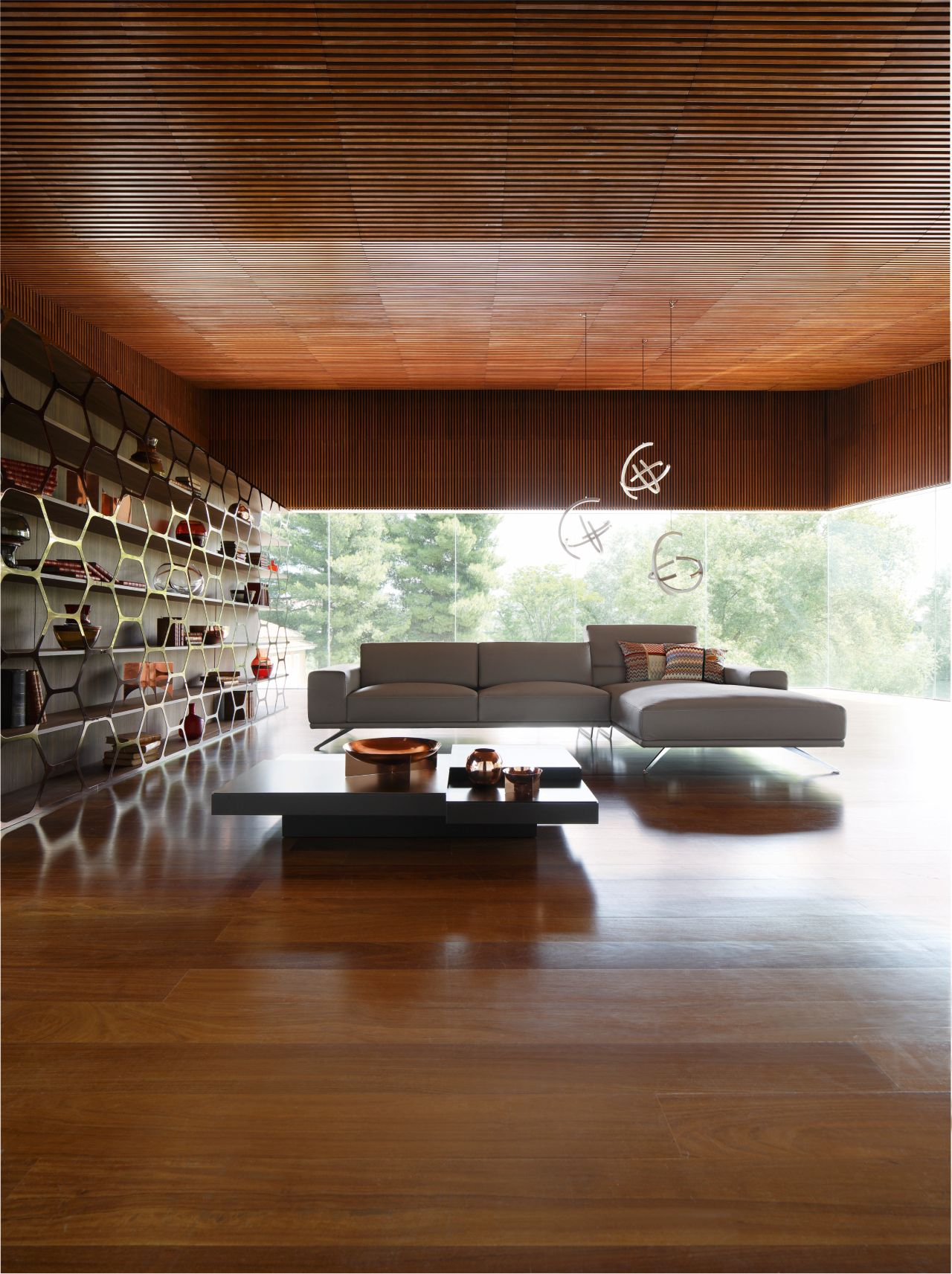pollen libreria roche bobois. Black Bedroom Furniture Sets. Home Design Ideas