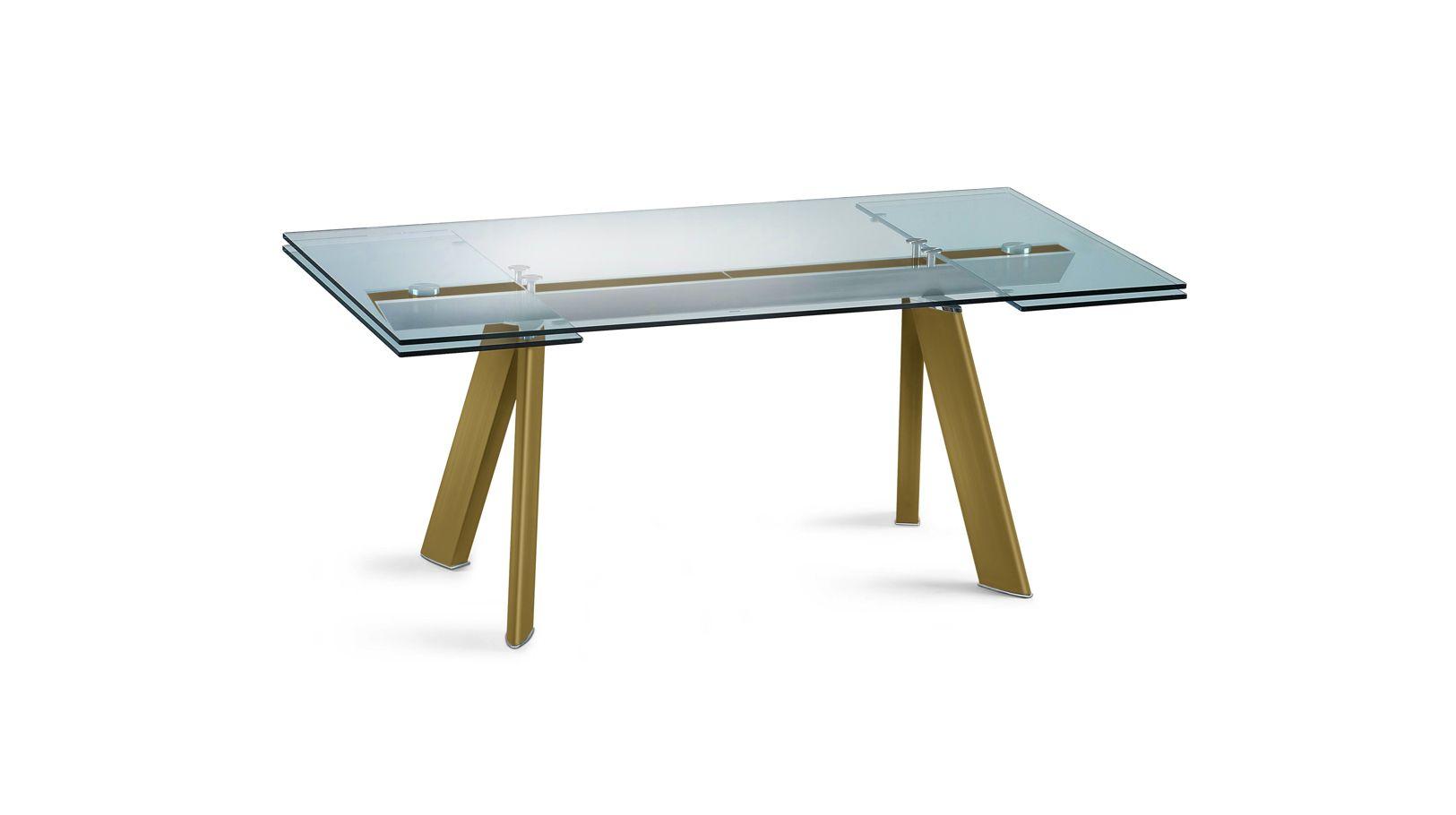 Table de repas chronos anodise roche bobois - Roche et bobois table ...