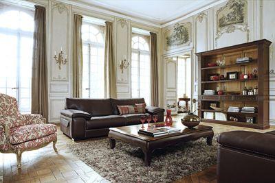 ascot 3-seat sofa (nouveaux classiques collection) - roche bobois