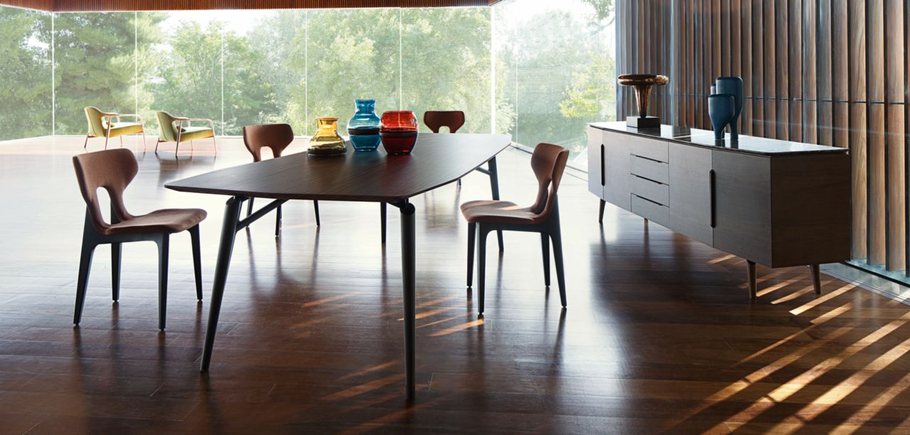 Lieto dining table roche bobois - Table ovale marbre roche bobois ...