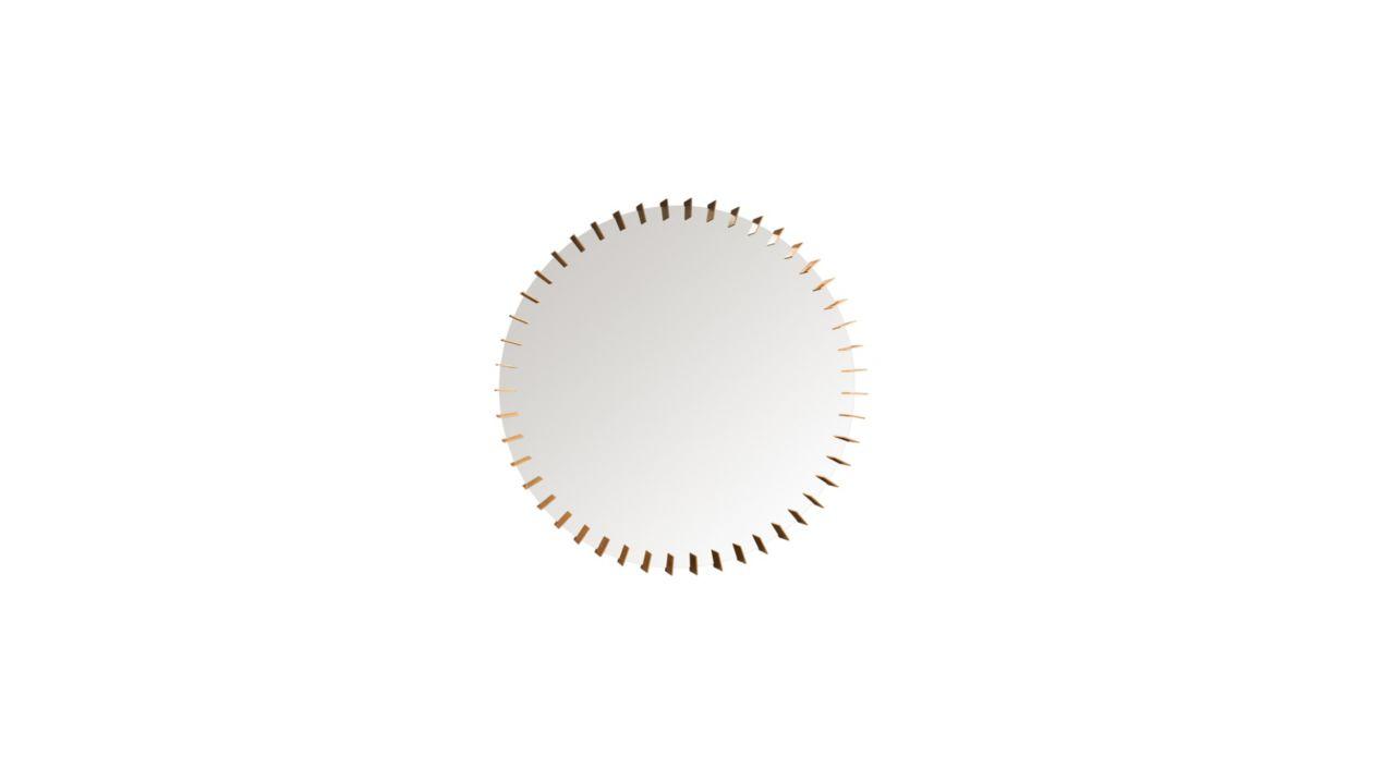 Turbine spiegel roche bobois for Miroir design roche bobois