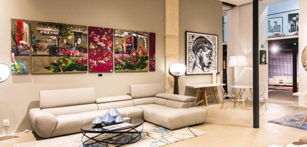 A paris l 39 art contemporain s 39 expose chez roche bobois roche bobois - Roche bobois contemporain ...