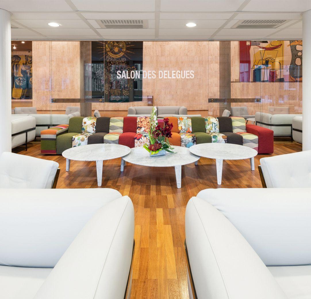 Roche Bobois aménage le Salon des Délégués de l\'UNESCO - Roche Bobois