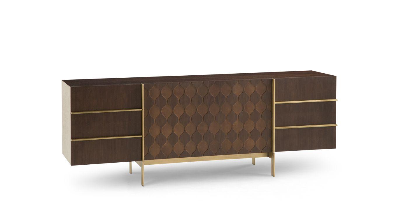 Table basse ronde trocadero collection nouveaux classiques roche bobois - Buffet contemporain roche bobois ...