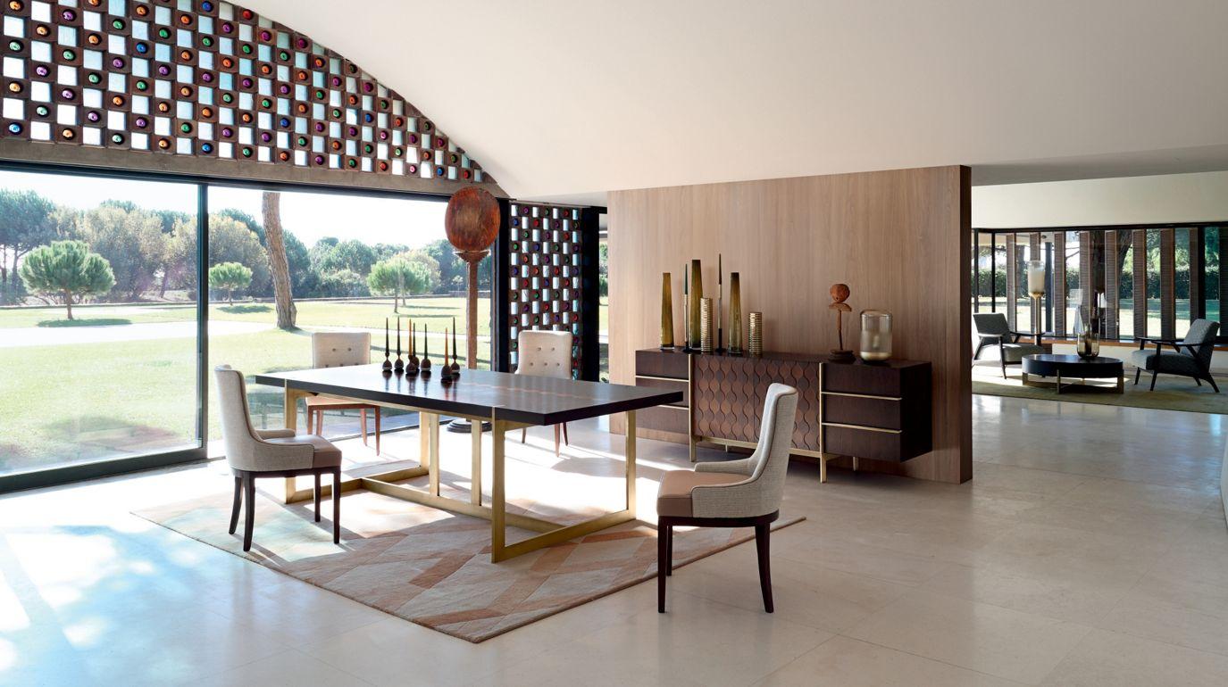 trocadero tavolo da pranzo collezione nouveaux classiques roche bobois. Black Bedroom Furniture Sets. Home Design Ideas