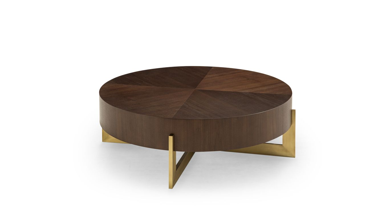 table basse ronde trocadero collection nouveaux classiques roche bobois. Black Bedroom Furniture Sets. Home Design Ideas
