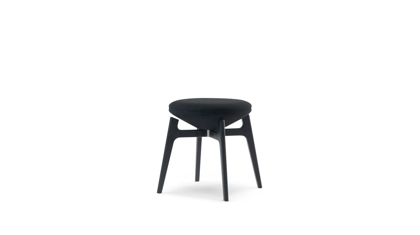 u turn tabouret avec dossier roche bobois. Black Bedroom Furniture Sets. Home Design Ideas