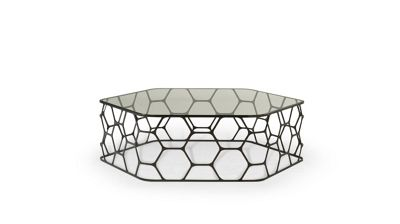 POLLEN OCCASIONAL TABLE  Roche Bobois -> Table Basse Transparente Courbee