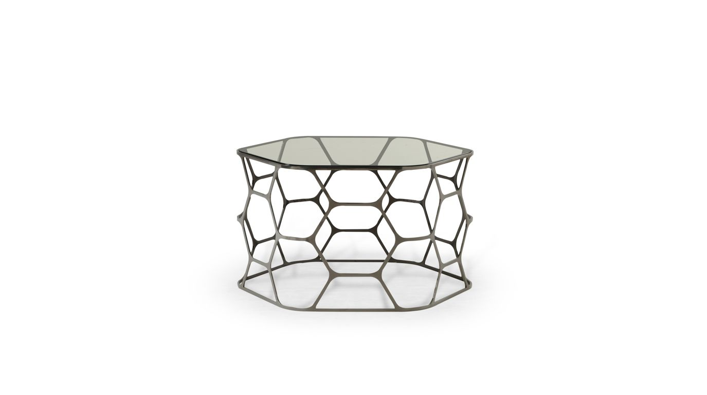 Pollen occasional table roche bobois for Table ardoise roche bobois