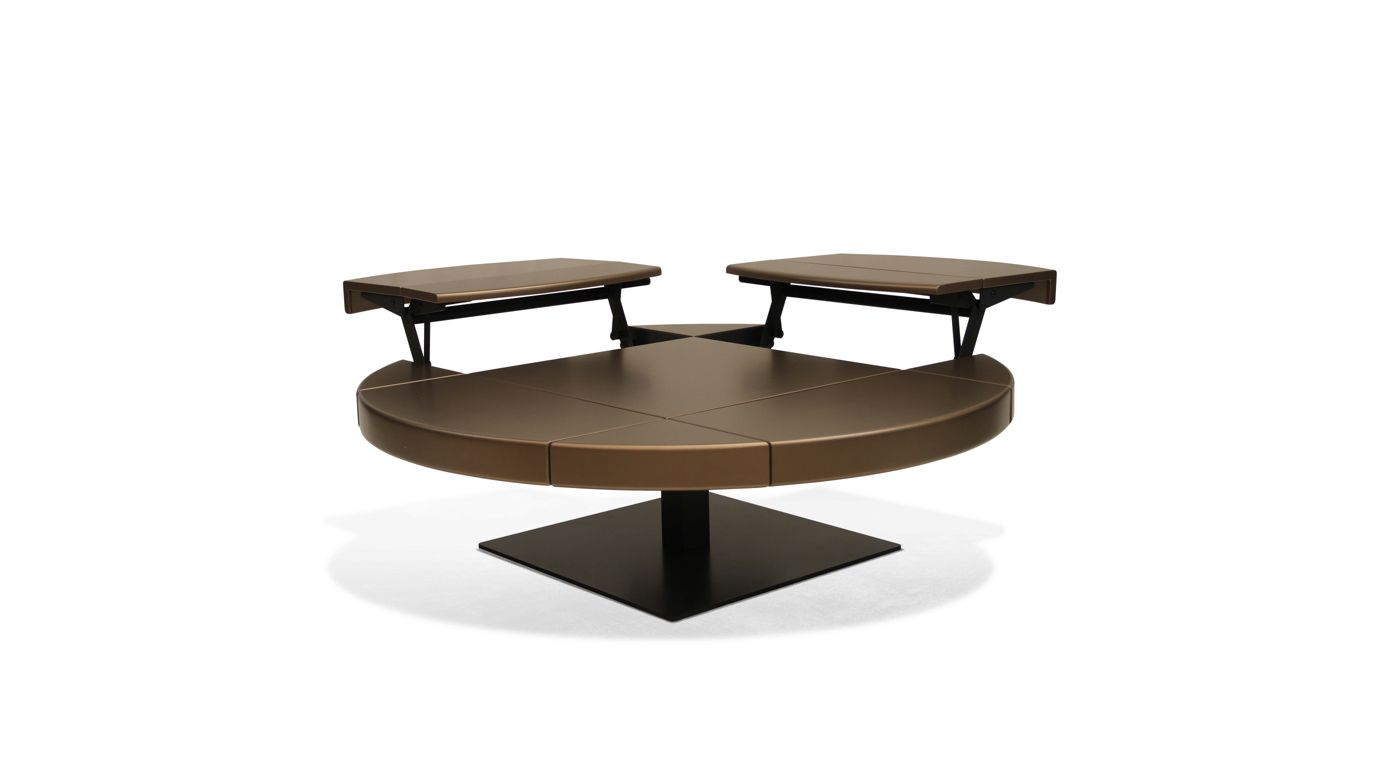 Ltb table basse carr e roche bobois - Table basse ouvrable ...