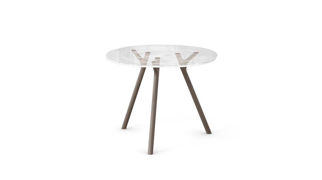plexiwood table de repas roche bobois. Black Bedroom Furniture Sets. Home Design Ideas