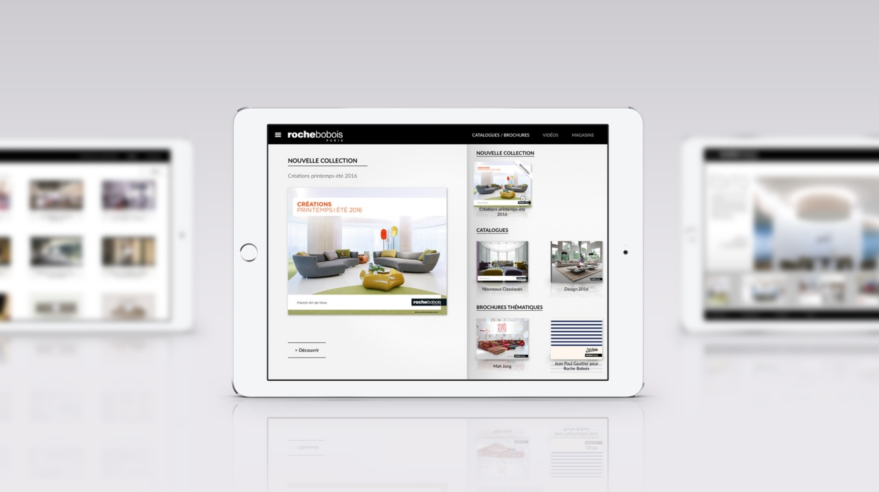 new roche bobois catalogues ipad app roche bobois. Black Bedroom Furniture Sets. Home Design Ideas