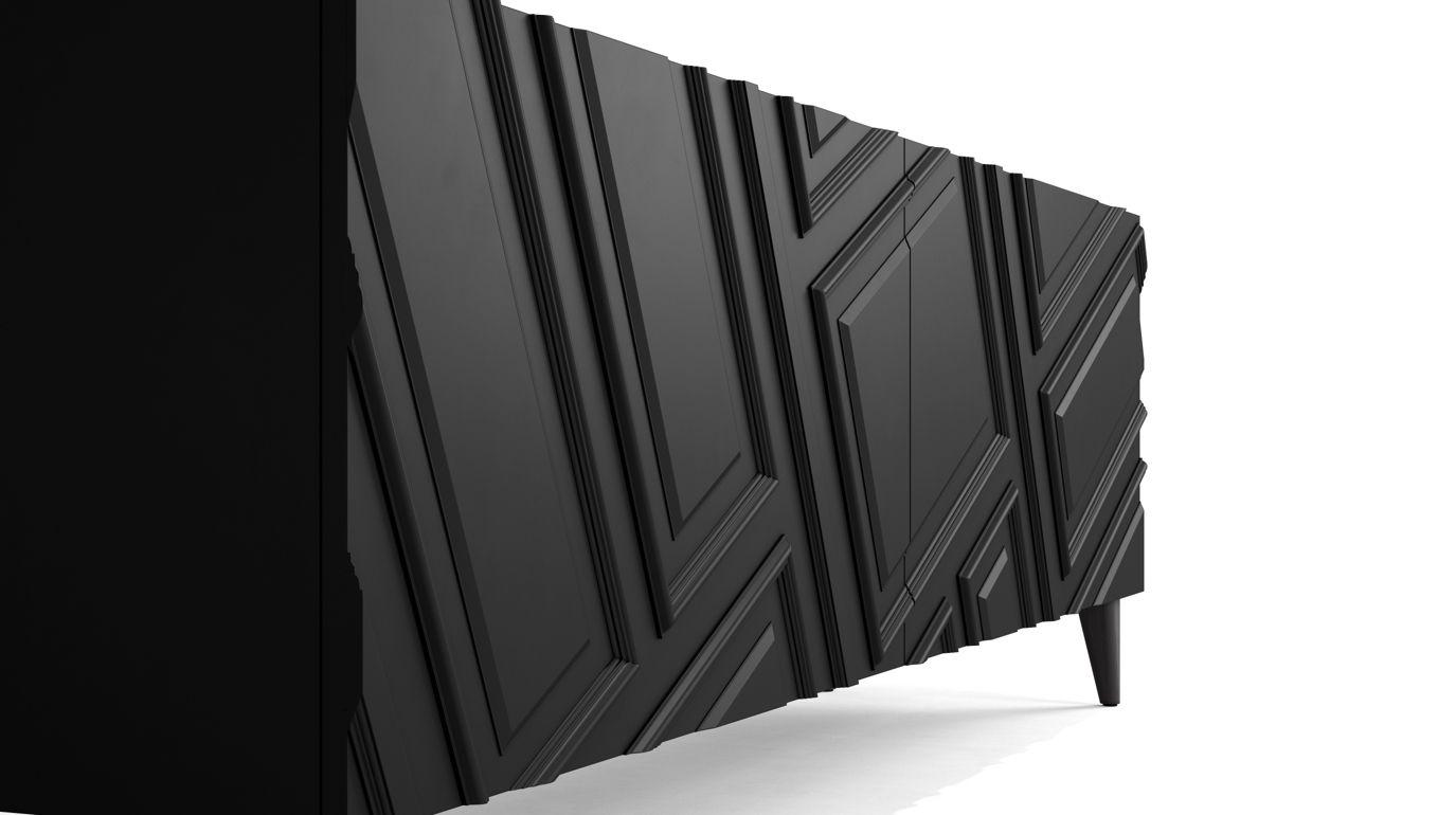buffet astragale roche bobois. Black Bedroom Furniture Sets. Home Design Ideas