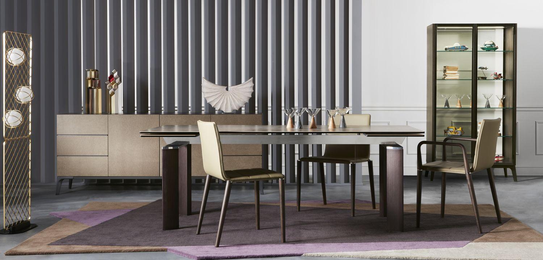 table de repas chronowood roche bobois. Black Bedroom Furniture Sets. Home Design Ideas