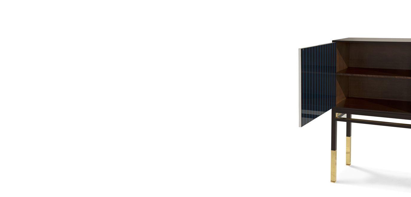 Maison lacroix large 3 door sideboard nouveaux classiques collection roch - Buffet contemporain roche bobois ...