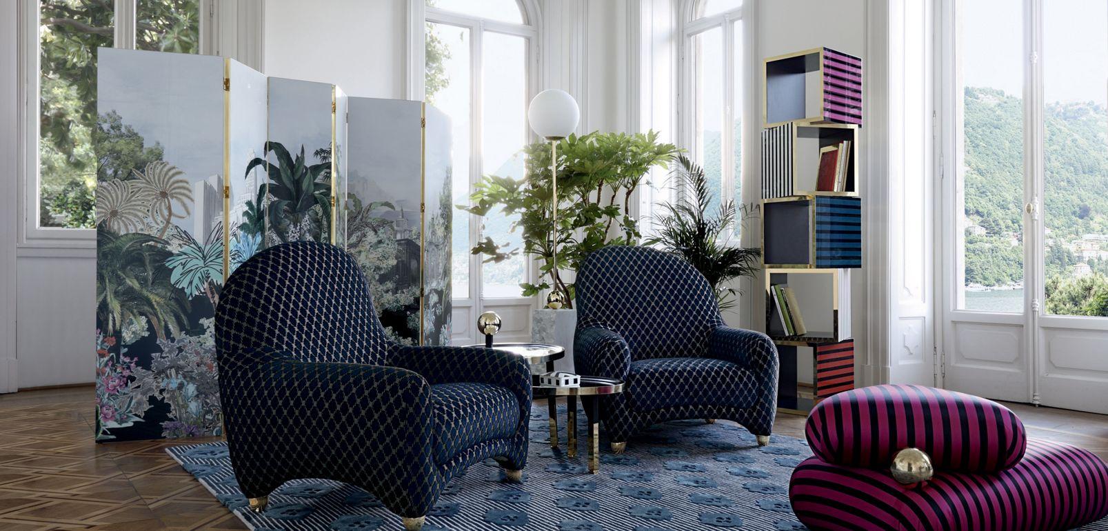 paravento grande maison lacroix collezione nouveaux classiques roche bobois. Black Bedroom Furniture Sets. Home Design Ideas