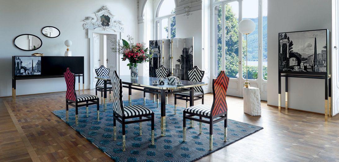 maison lacroix chaise collection nouveaux classiques roche bobois. Black Bedroom Furniture Sets. Home Design Ideas
