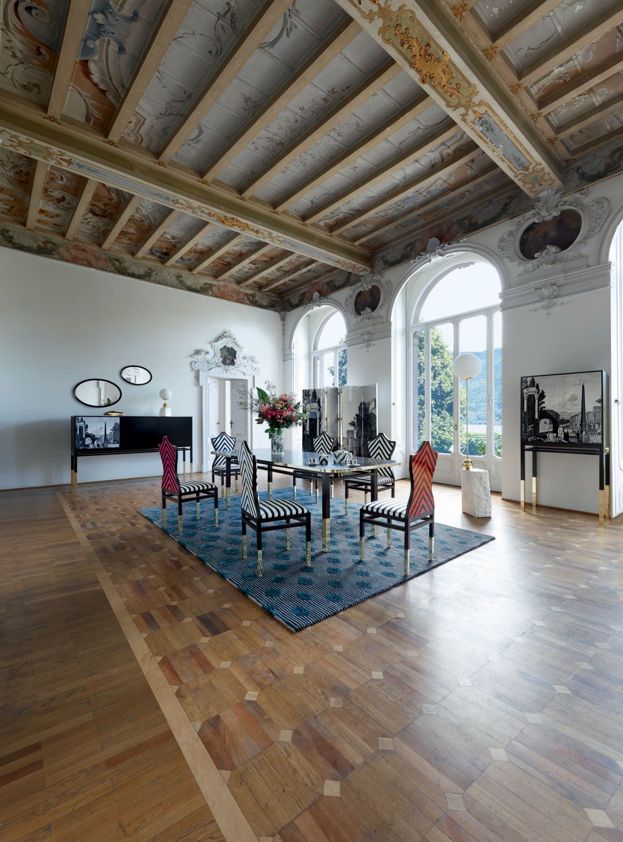 Maison lacroix rectangular dining table nouveaux for Salle a manger roche bobois